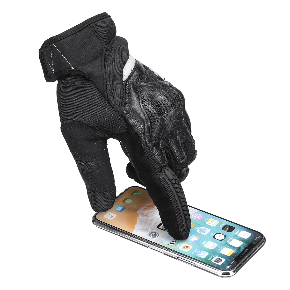 Motorcycle Touch Screen Full Finger Gloves Men For Dirt Bike Racing Outdoor Riding Hard Shell Protection MTO-030