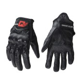 GHOST RACING Motocross Racing Leather Gloves Motorcycle Protective Gear Goatskin Touchscreen Men Women