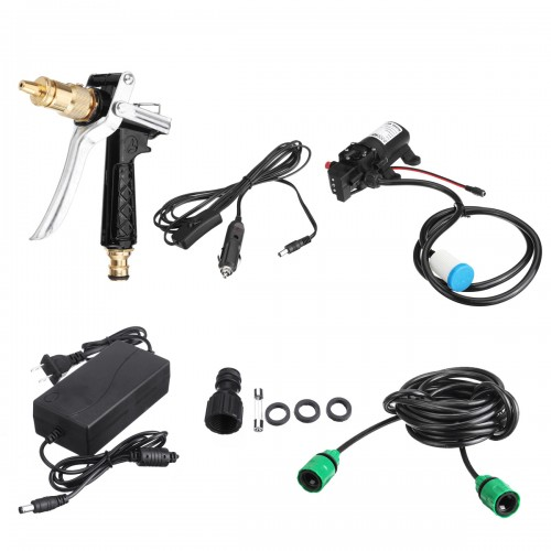 80W 12V High Pressure Car Electric Washer Squirt Sprayer Wash Self-priming Pump Water Cleaner For Auto Washing Tools