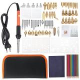 92pcs Wood Burning Pen Set Tips Stencil Soldering Iron Pyrography Tools Crafts Kit