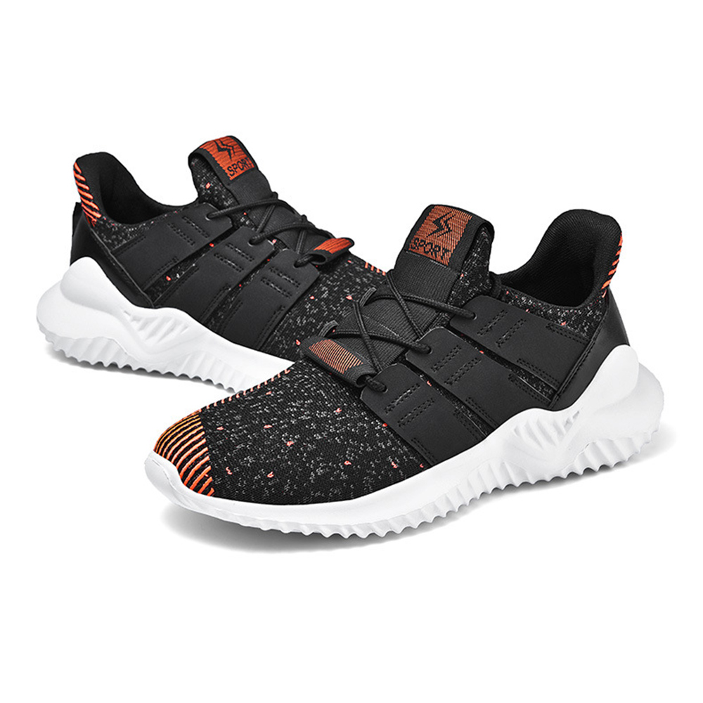 Men Breathable Knitted Mesh Lightweight Running Sports Sneakers