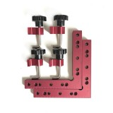 Drillpro 120/140/160mm 90 Degree L-shaped Auxiliary Fixture Positioning Panel Fixing Clip Woodworking Clamping Tool