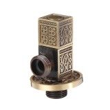 Antique Brass Triangle Valve Bathroom Accessory G1/2 Brass Angle Stop Valves Filling Valves Square Type