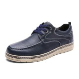 Men Vintage Genuine Leather Casual Soft Soles Office Oxfords