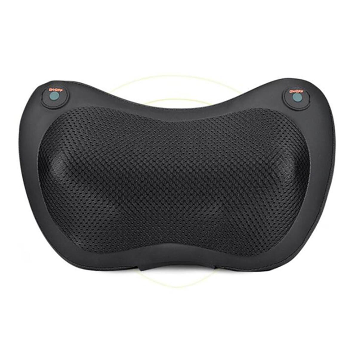 4/8 Heads Electric Shiatsu Massager Pillow Infrared Heating Back Neck Pillow Car Seat Cushion Electric Massager