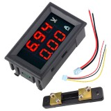 0.56″ DC 100V 50A Red+Red Dual LED Display Mini Digital Voltmeter Ammeter Panel Amp Volt Voltage Current Meter Tester