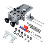 3 In 1 Dowelling Jig 6/8/10mm Wood Drilling Guide Locator Adjustable Dowel Jig Kit For DIY Woodworking Tool