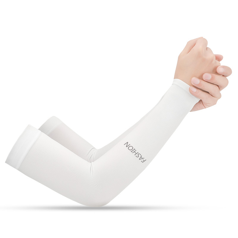 Men's Women's Sun Protection Gloves Arm Sleeves Solid Color Simple Style All Match Accessory