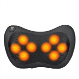 4/8 Heads Electric Shiatsu Massager Pillow Infrared Heating Back Neck Pillow Car Seat Cushion Electric Massager