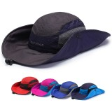 Mens Foldable Breathable Bucket Hat With String Outdoor Climbing Sunshade Cap