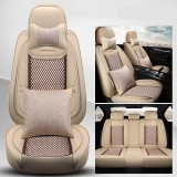 65x55x25CM Four Seasons General Car Seat Cushion Cover Breathable Wear-Resistant Anti-Static PU Leather