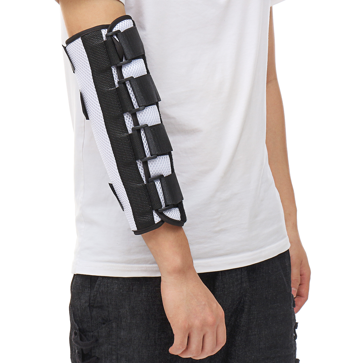 Elbow Orthosis Arm Metal Support Brace Adjustable Fracture Fixation Protector