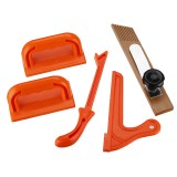 5pcs Woodworking Safety Push Block and Push Stick FeatherBoard Set for Table Saws Router Tables Band Saws and Jointers