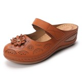 Lostisy Large Size Women Flowers Lightweight Hollow Out Sandals