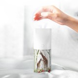 LyRay-T06 Usb Charging Night Light Function Air Humidifier Aromatherapy 3D Embossed Humidifier for Car Desktop – White