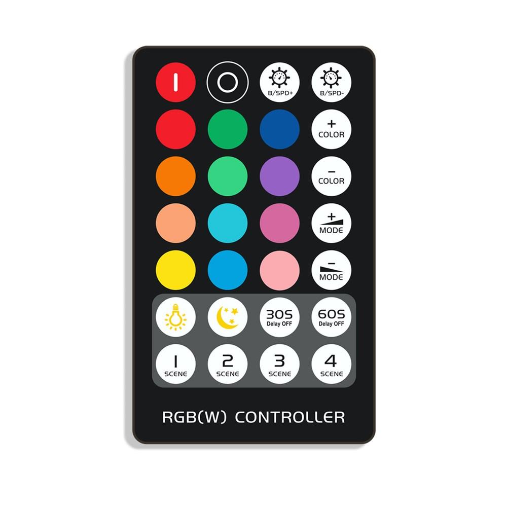 DC5-24V Mini 3Keys IR RGB LED Dimmer Controller + 28Keys Remote Control for Strip Light