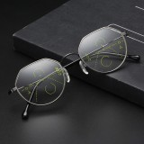 Unisex Retro Far Near Dual-use Reading Glasses Automatic Zoom HD Anti-fatigue Reading Glasses