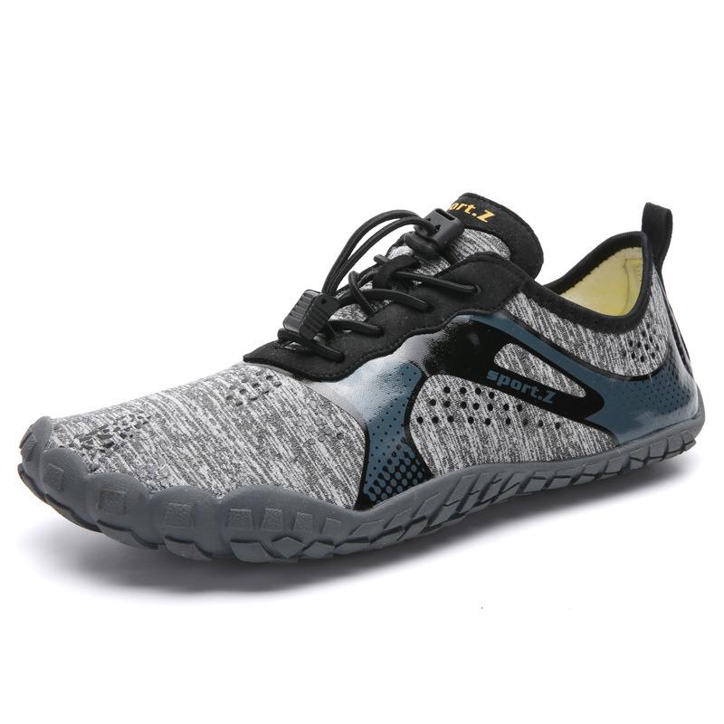 Men Elastic Cloth Outdoor Slip Resistant Hiking Walking Sneakers
