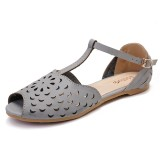Lostisy Women Hollow Out Flowers Pattern Comfy Sandals