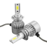 C6 COB LED H4 H7 Car Headlights 3000K Golden Yellow Bulbs H1 9005 9006 Fog Lamps 72W 7600LM