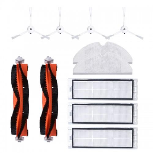 11PCS Side Brush Roller Brush HEPA Filter Mop Cloth For Xiaomi Roborock Robot Vacuum Cleaner Accessories Parts