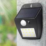 Solar Powered 12 LED PIR Motion Sensor Wall Light Ourdoor Waterproof Garden Courtyard Security Lamp 3 Lighting Modes