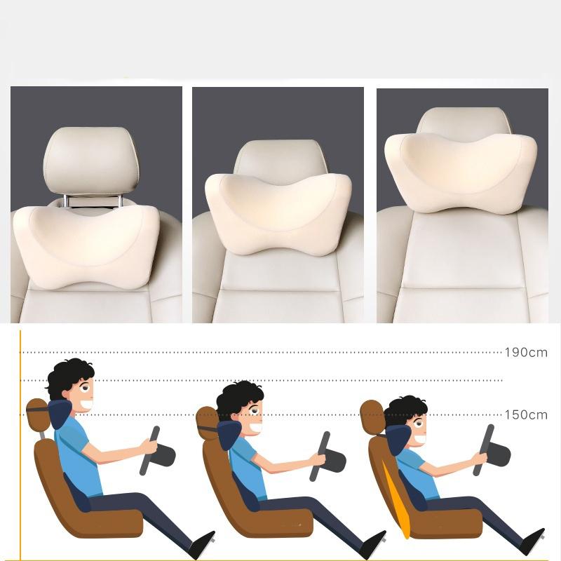 Car Seat Headrest Head Pillow Pad Foam Memory Travel Neck Rest Support Cushion