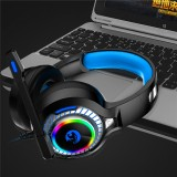 A60 Gaming Headphone RGB LED Light Stereo Bass Earphone Wired Headset With Mic for PC Computer PS4