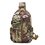 ZANLURE 3611 USB Tactical Bag Oxford Waterproof Chest Bag Shoulder Bag Crossbody Bag Fashion Leisure Hand Bag