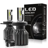 G4 Mini H4 H7 Car LED Headlights Bulbs H1 H11 9005 9006 9012 Fog Light 70W 10000LM IP68 6000K 2PCS