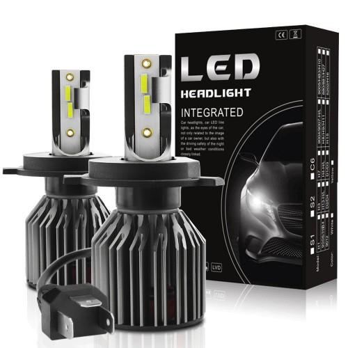 G4 Mini H4 H7 Car LED Headlights Bulbs H1 H11 9005 9006 9012 Fog Light 70W 10000LM IP68 6000K 2PCS
