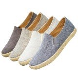 Men Canvas Lightweight Comfy Soft Walking Casual Flats