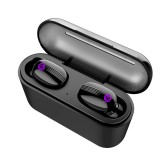 X2 Invisible Wireless Stereo Earbuds bluetooth 5.0 Smart Touch IPX6 Waterproof Binaural TWS Earphone With Power Bank