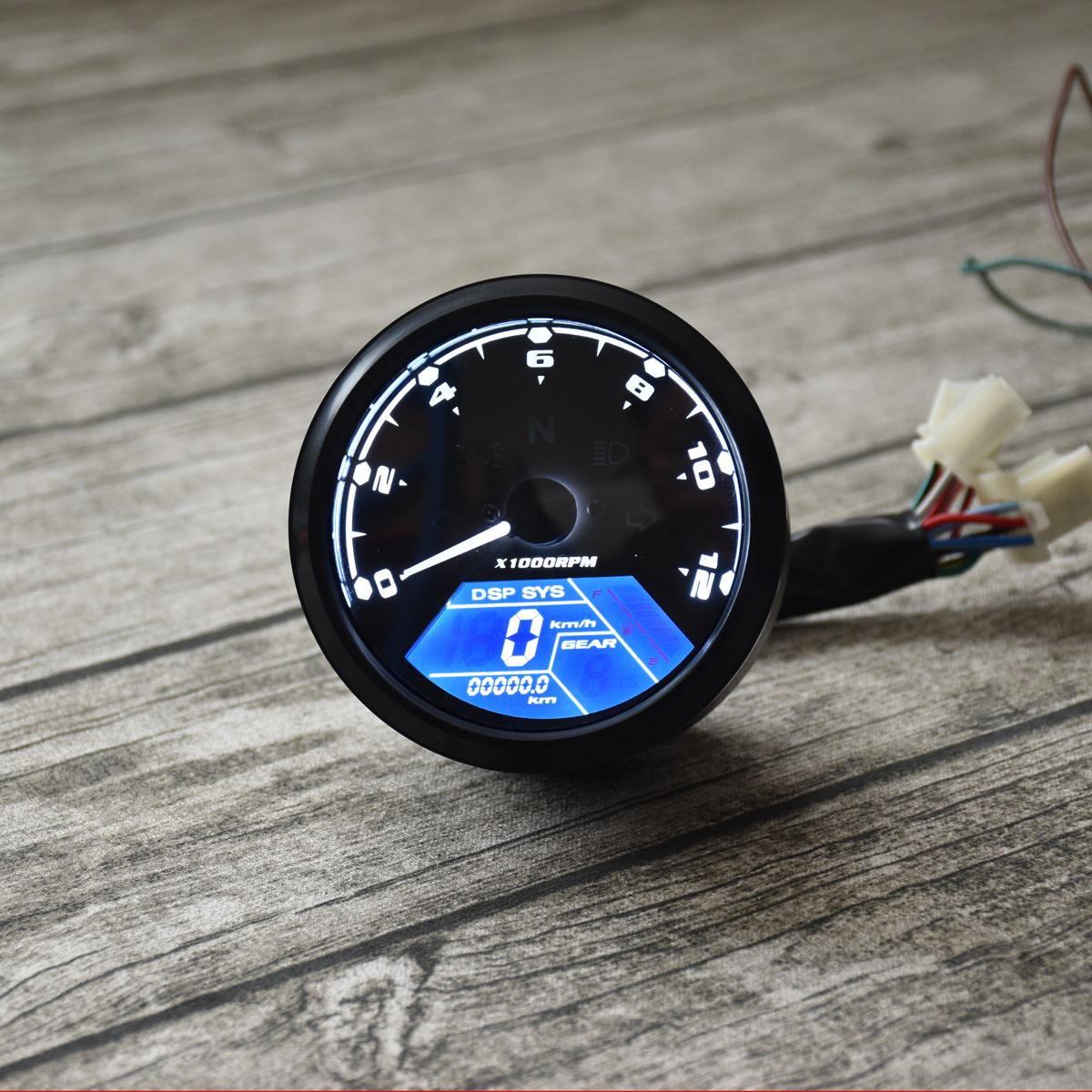 Universal Motorcycle Digital Odometer Speedometer KPH Sensor Cable