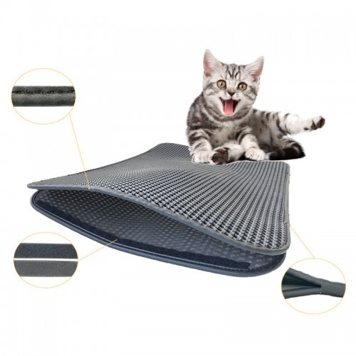Waterproof Pet Cat Litter Mat Double Layer Cat Litter Trapping Pet Cats Accessories