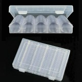 100Pcs Coin Capsules 27/30mm Coin Collecting Container Storage Case with Box