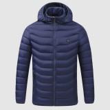 Electric USB Heating Coats Vest Jacket 4 Heating Pads Cloth Body Warmer Abdomen Neck Back Men Women