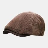 Men's Corduroy Newsboy Cap Winter Beret Hat Beret Caps
