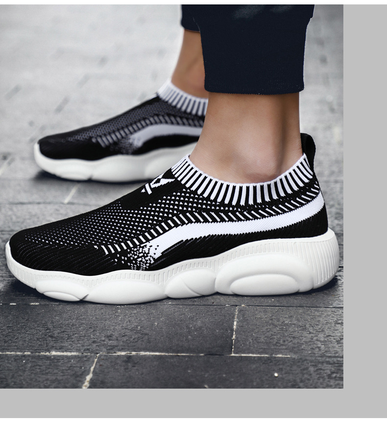 Men's Sports Shoes Breathable Woven Mesh Shoes Casual Thin Section Running Sneakers
