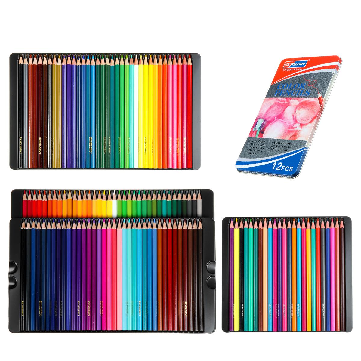 12/24/36/72 Colors Professional Oil Colored Pencils Set Artist Painting Sketching Wood Color Pencil School Art Supplies