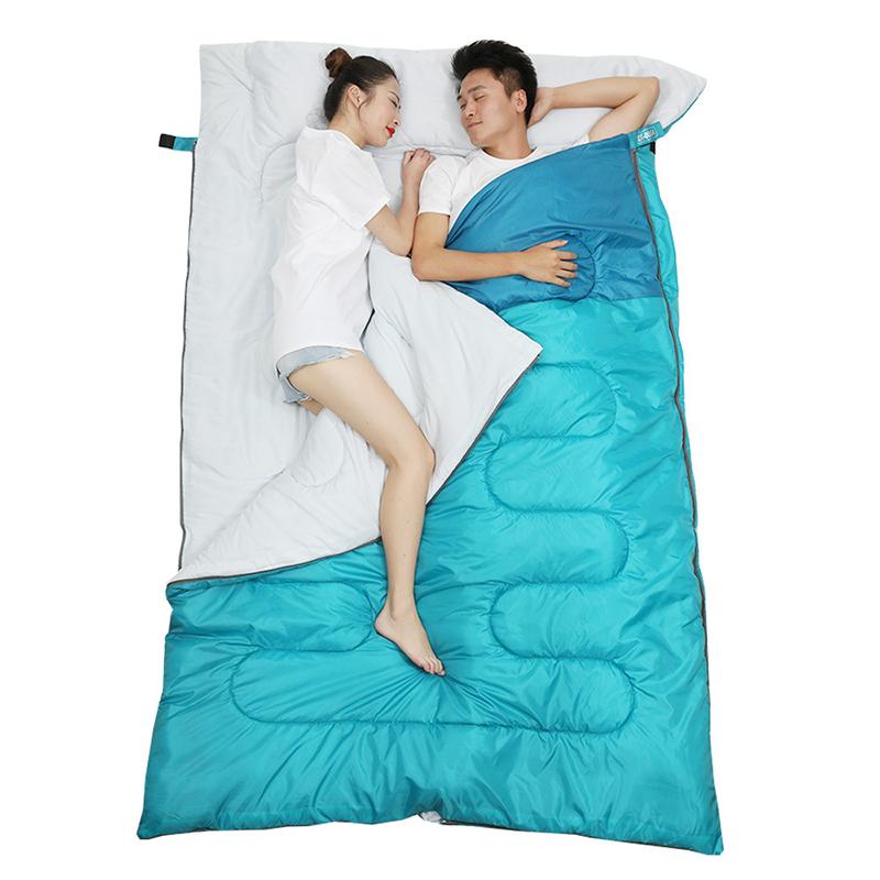 220x145cm Sleeping Bag Outdoor Traveling Picnic Camping Waterproof Double Sleeping Bag Sleeping Mat