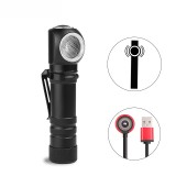 XANES 1935 Portable LED Work Light XHP50 3Modes USB Rechargeable Outdoor Multifunctional Flashlight Emergency Light Camping Light with Magnet and Clip