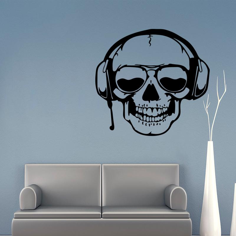 Miico FX3003 Cartoon Sticker Wall Sticker Halloween Sticker Removable Wall Sticker Room Decoration - Skull