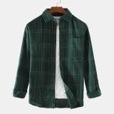 Plaid Fashion Practical Pocket Long Sleeve Mens Casual Shirts