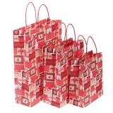 12pcs/lot Christmas Kraft Paper Bag Santa Gift Bag Candy Bag Christmas Party Sup
