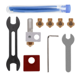 MK10 All Metal Hotend Kit with MK10 Extruder+0.4mm+0.6mm Brass Nozzle+PTFE Tube+Wrench Set for 3D Printer