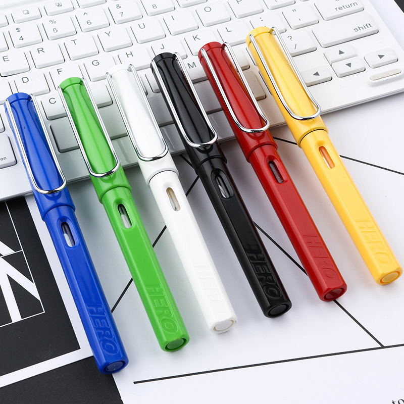 Hero 359 Fountain Pen EF F Nib Calligraphy Correction Writing Posture Signing Ink Pens Gifts for Students Friends Families