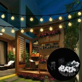 9.5M 50 LED Solar Fairy Bulb String Light 8 Modes Outdoor Indoor Garden Wedding Holiday Lamp Decor