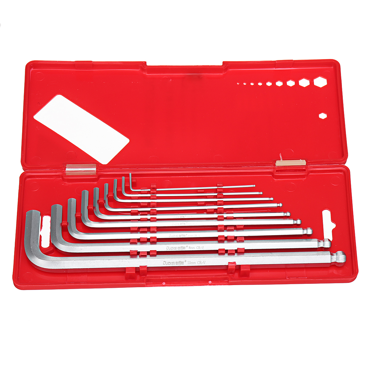 9pcs Ball Point End Hex Allen Allan Wrench Key Hand Tools Kits Accessories 1.5-10mm with Box