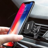 Earldom Universal Magnetic 360 Degree Rotation with Cable Clip Air Vent Car-Mount Phone Holder For 4.0-7.0 Inch Smart Phone